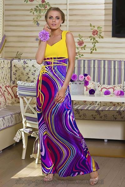 Платье двух цветов в