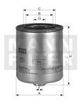 Фильтр топливный WK720/2x