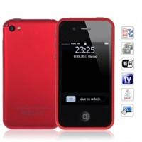 """Телефон i5S+  с Wi-Fi Аналоговым ТВ Java и сенсорным экраном 3.2"""" дюйма (красный)"""