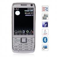 """Телефон E71 с аналоговым TV Java и 2.8"""" сенсорным экраном (белый)"""