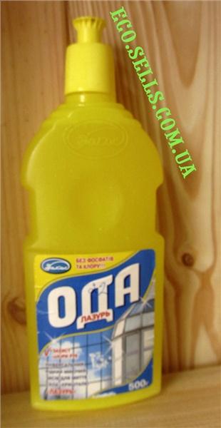 «ОДА» Лазурь, жидкость для мытья поверхностей из стекла и хрусталя, 500 мл.