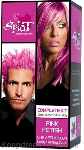 Розовая краска для волос