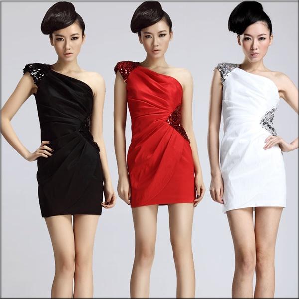 Коктейльные платья на одно плечо