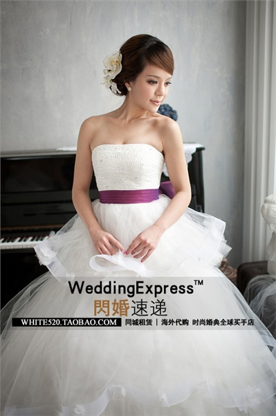 Свадебные Платья С Фиолетовой Вставкой