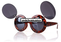 Женские очки Lady Gaga paparazzi mickey mouse уши ушки Лэди ГаГа Микки Маус Леопардовые