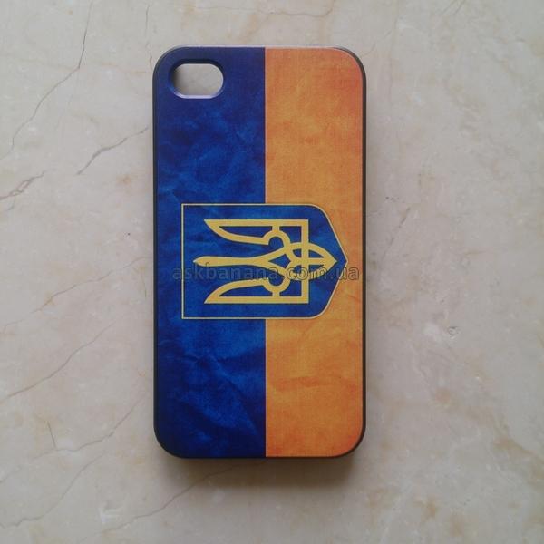 Твердый пластиковый чехол Национальный Флаг Украины Прапор України  для Apple iPhone 4 4S