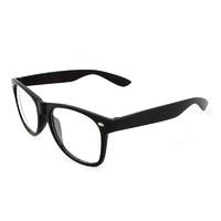 Очки унисекс Wayfarer с прозрачными линзами Черные матовые