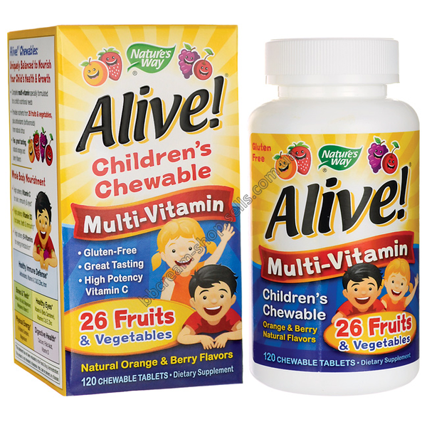 Nature's Way, Alive! Children's Multi-Vitamin, 120 Chewable Tablets