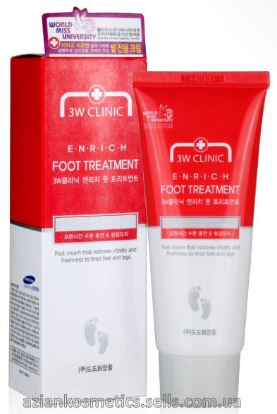 Восстанавливающий крем для ног 3W Clinic Enrich Foot Treatment 100ml
