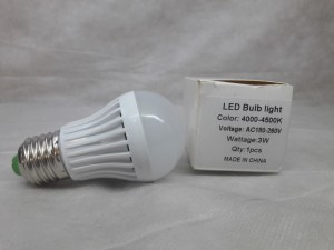 LED Bulb light 4000-4500К, 3 Вт