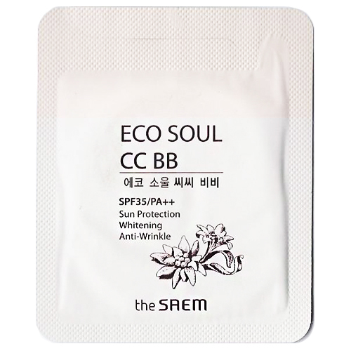 The Saem Eco Soul CC BB SPF35/PA++ 1ml