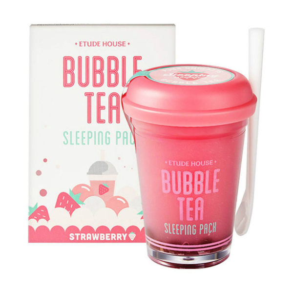 Etude House Bubble Tea Sleeping Pack Strawberry 100g