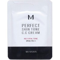 Missha M Perfect Skin Tone C.C Cream 1ml #1 Vital Tone