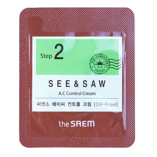 The Saem See & Saw A.C Control Cream 1ml