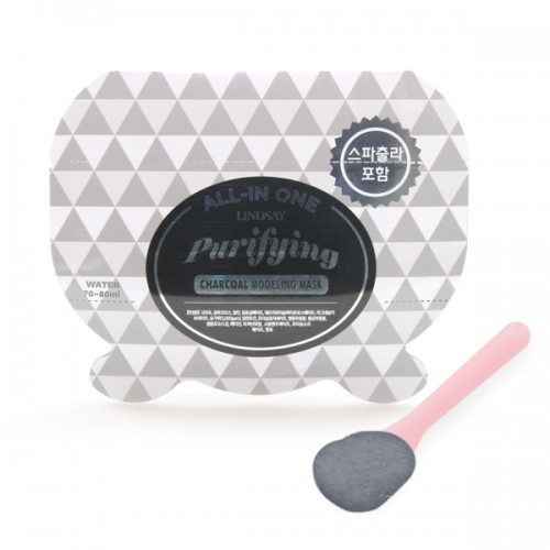 Lindsay Purifying Charcoal All-in One Modeling Mask 28g + Spatula