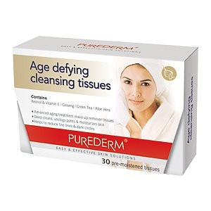 Purederm Age Defying cleansing tissues 30шт