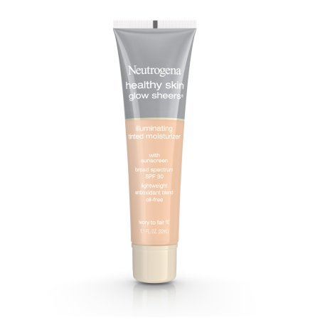 Тональная основа Neutrogena Healthy Skin Glow Sheers Broad Spectrum Spf 30, оттенок Ivory To Fair 10