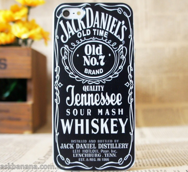 Пластиковый чехол для  iPhone 5 5S  Jack Daniel's Old Time No 7 Brand Quality Jennessee Черный