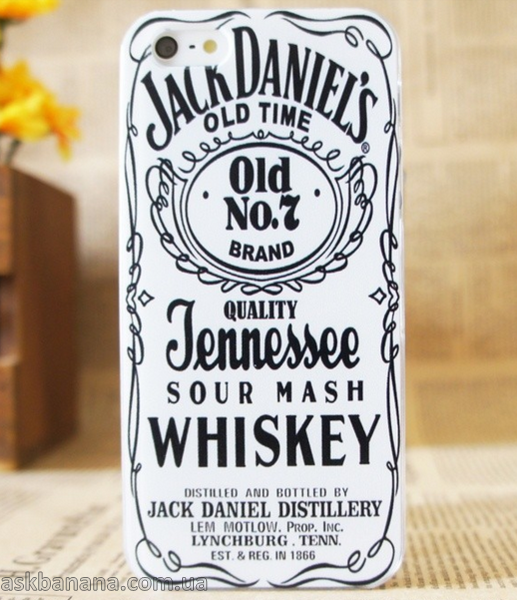 Пластиковый чехол для iPhone 5 5S Jack Daniel's Old Time No 7 Brand Quality Jennessee Белый