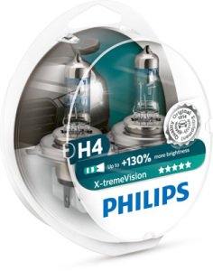Лампа H4 Philips X-treme VISION +130%