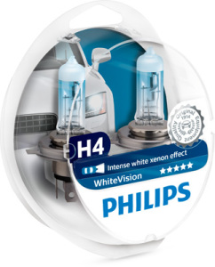 Лампа H4 Philips WhiteVision 4300K