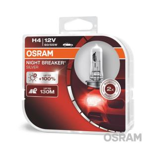 Лампа H4 OSRAM Night Breaker Silver (+100)