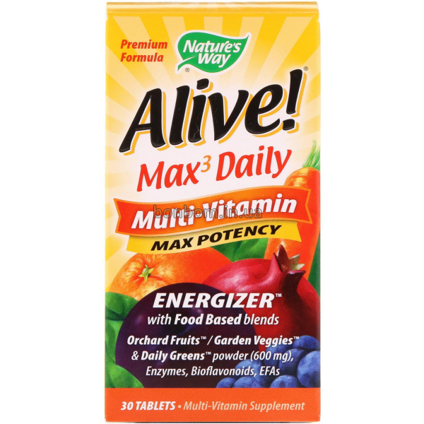 Мультивитамины Nature's Way Alive! Max3 Daily Multi-Vitamin