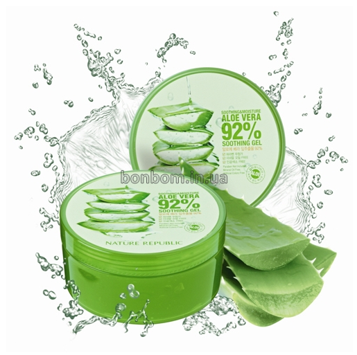 Гель с алоэ NATURE REPUBLIC Soothing & Moisture Aloe Vera 92% Soothing Gel