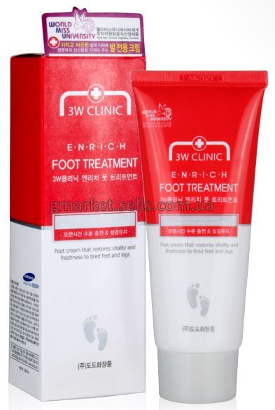 Восстанавливающий крем для ног 3W Clinic Enrich Foot Treatment