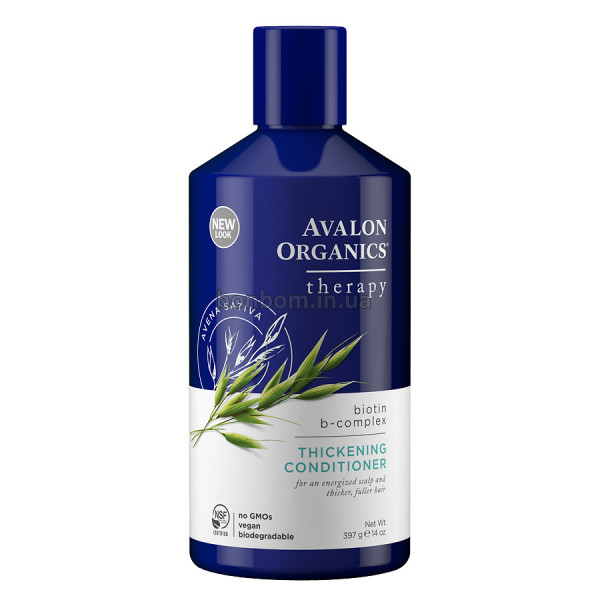 Восстанавливающий кондиционер с биотином Avalon Organics Biotin B-Complex Therapy Thickening Conditioner