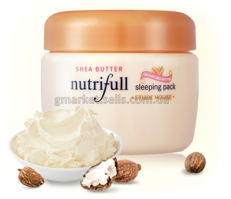 Маска Etude House Shea Butter Nutrifull Sleeping Pack